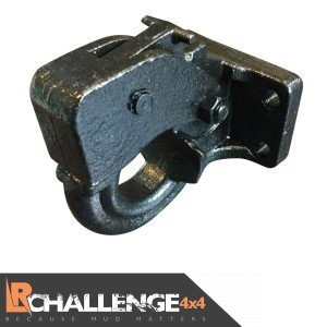 Heavy duty Black Pintle tow NATO Hitch Hook off road recovery 4×4 8 Ton