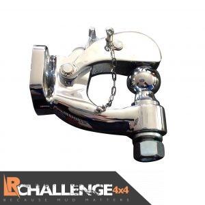 Heavy duty Chrome Pintle tow bar Hitch Hook 8 Ton 50mm Ball Uk Spec