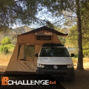 3 Man Roof Tent With Awning, 75mm Mattress and Ladder, Incldes Mountig bars fit any Car / van / 4×4