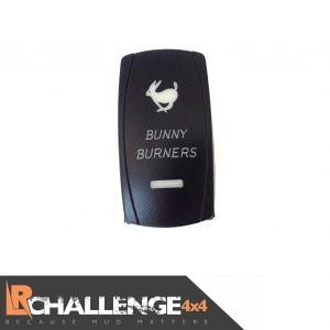 Back Lit Switch Bunny Burners For LED Light Bar Spot / Work 12v Or 24v