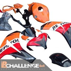2008-2011 Honda CBR 1000RR Full Fairing Kit Repsol Orange