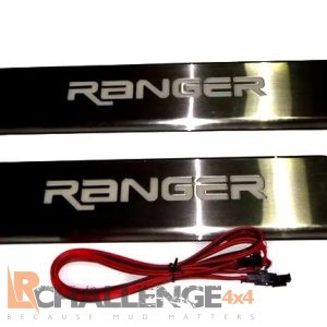 2012-2018 Ford Ranger Door Sill protectors With LED Ranger lettering.