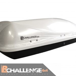 Aerodynamic 500 Ltr White Universal Roof Top Box