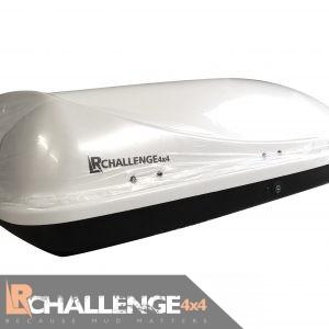 Aerodynamic 460 Ltr White Universal Roof Top Box