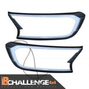 LED DRL Head Light Guards to fit Ford Ranger 2016 onwards