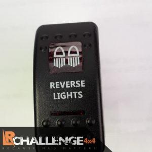 Incar LED Light bar Rocker switch Reverse Lights Back lit RED CE approved