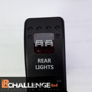 Incar LED Light bar Rocker switch Off Rear Lights Back lit Red CE approved