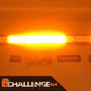 42″ curved amber beacon LED Custom Light Bar 2 colour white and orange strobe 12v 24v recovery etc