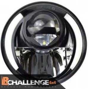 7″ LED Headlights Black DRL to fit Land Rover Defender & Jeep Wrangler TJ JK