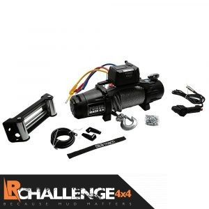 Bearmach Power Mach 9,500lb 12v Two Speed Winch with 9mmx27m Steel Wire Rope & Wireless Remote 9500