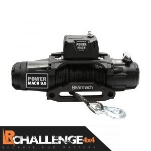Bearmach Power Mach 9500lb 12v Two Speed Winch with 9mmx27m Synthetic Rope & Wireless Remote 9500