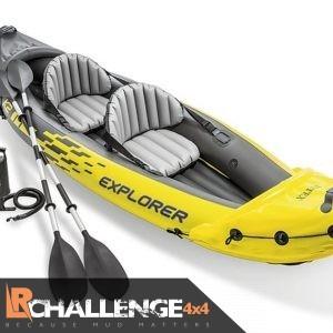 Intex Explorer K2 Kayak Inflatable 2 Man person with Ores pump & bag