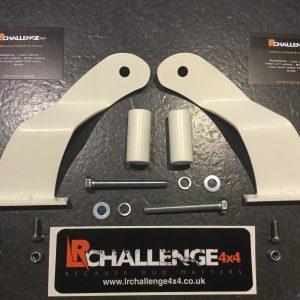 "Land Rover Defender white 50"" LED light bar brackets for your roof gutters"