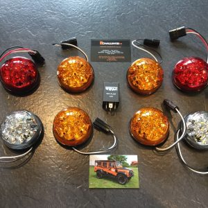 land rover defender Upgraded Wipac LED Side Light Kit & Relay Indicators Colours
