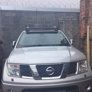 "42"" LED Light Bar Brackets mounts To Fit Nissan Navara D40 06-15 Brackets Only"