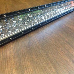 "ICE WHITE 52"" LED Light Bar & Wiring Loom 300 watt Flat"