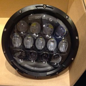 Jeep Wrangler TJ JK 7'' Black LED High Out Put Head Lights great