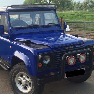 Land Rover Defender 50'' Led Light Bar Package Brackets Custom Fit Onto Gutters,