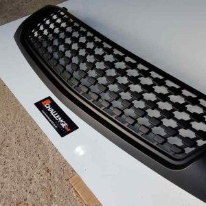 Satin Black mesh style Grill to fit Mitsubishi L200 2015 onwards Triton missing 1x lug bargain