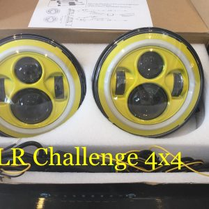 "7"" 60W Yellow LED DLR Head Lights Halo Ring"