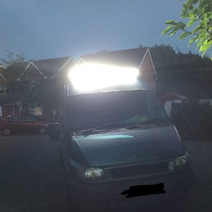 Ford Transit Mk6 Mk7 LED light Bar Set Up With Brackets 500 Watt 52''