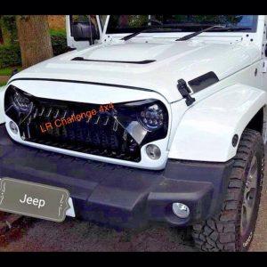 """7"""" 105W Black LED Head Lights Indicator Flash Land Rover Defender Jeep Wrangler"""