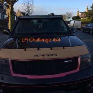 52″ LED Light bar 2 Colour Amber Beacon Flash remote to fit Nissan Navara D40