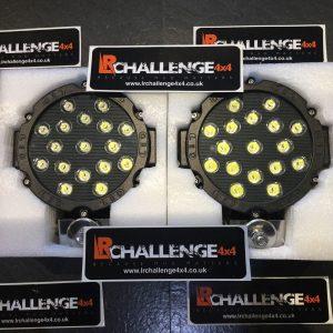 Black 102 Watt LED Spot Lights