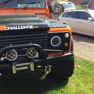 land rover defender 7'' Black LED Head Lights 60watt Wipac clear Side Light Kit