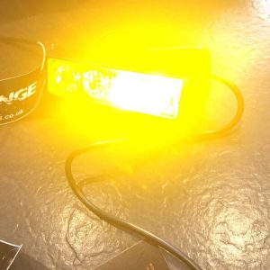 Amber LED Warning Beacon x4 Crystal Clear Flash Modes