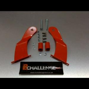 50″ Light Bar Brackets Curved to fit Land Rover Defender powder coated orange